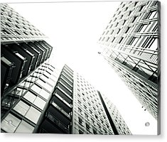 More Grids And Lines Acrylic Print by Lenny Carter