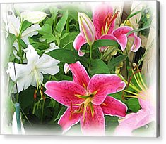 More Lilies Acrylic Print by Victoria Sheldon