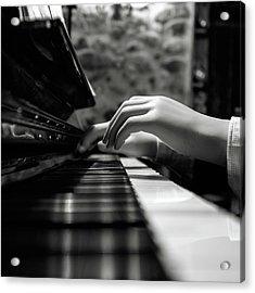 More Music Please Acrylic Print by Marco Antonio Cobo