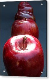 Acrylic Print featuring the photograph More Red Apples by Helene U Taylor