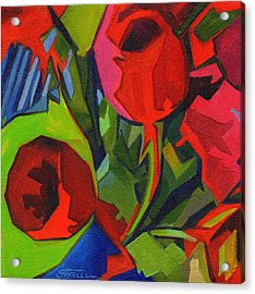 More Red Tulips  Acrylic Print