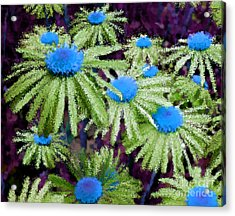 More Than Miles Purple Green Blue Acrylic Print by Holley Jacobs