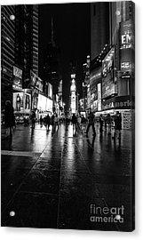 More Times Square Mono Acrylic Print by John Farnan