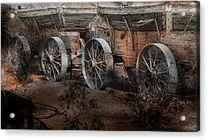 More Wagons East Acrylic Print by Gunter Nezhoda