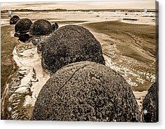 Moreaki Boulders #4 Acrylic Print by Judith Barath