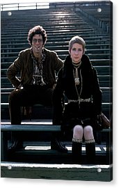 Moreen Mcgill And Elliot Gould Acrylic Print by William Connors