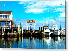 Morehead City Dock Acrylic Print