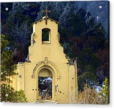 Acrylic Print featuring the photograph Mountain Mission Church by Barbara Chichester