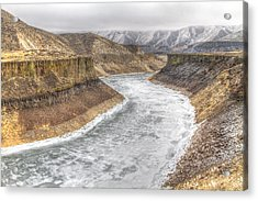 More's Creek Under Ice Acrylic Print