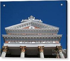 Morgan Cty Courthouse - Madison Ga Acrylic Print by Cheryl Hardt Art