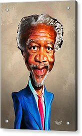 Morgan Freeman Acrylic Print by Anthony Mwangi