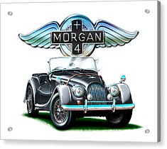 Morgan Plus 4 Blkgray Acrylic Print by David Kyte