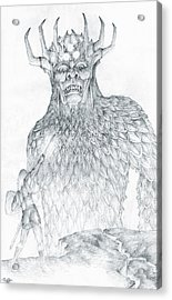 Acrylic Print featuring the drawing Morgoth And Fingolfin by Curtiss Shaffer