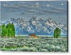 Mormon Barn Spring Acrylic Print