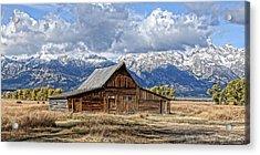 Mormon Barn With Horses Acrylic Print
