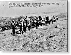 Mormon Pioneers Acrylic Print by Benjamin Yeager