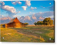 Mormon Row And The Grand Teton Acrylic Print