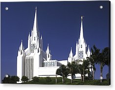 Mormon Temple Acrylic Print by Paul W Faust -  Impressions of Light