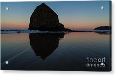 Morning At Haystack Acrylic Print by Mike Reid