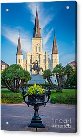 Morning At Jackson Square Acrylic Print by Inge Johnsson