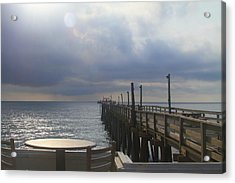 Morning At Rodanthe Pier 16 Acrylic Print