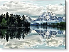 Morning At The Bend Acrylic Print by Jeff R Clow