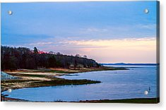 Morning At The Lake - Landscape Acrylic Print by Barry Jones