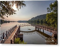 Acrylic Print featuring the photograph Morning At The Pier by Kari Yearous
