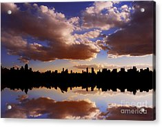 Morning At The Reservoir New York City Usa Acrylic Print