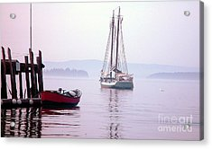 Morning At The Wharf Acrylic Print by Christopher Mace