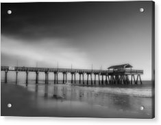 Acrylic Print featuring the photograph Morning At Tybee Island Pier by Frank Bright