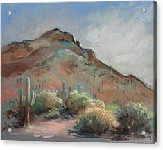 Morning At Usery Mountain Park Acrylic Print by Peggy Wrobleski