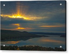 Morning Beams Over Glen Lake Acrylic Print