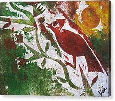 Morning Birdsong Acrylic Print by Judy Via-Wolff