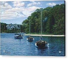 Morning Blue - Cape Cod Acrylic Print by Julia O'Malley-Keyes