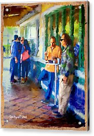 Morning Cafe Con Leche Break Acrylic Print by Ted Azriel