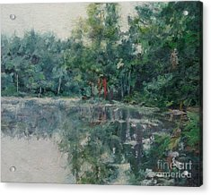 Morning Calm - Adirondacks Acrylic Print by Gregory Arnett