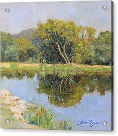 Morning Calm In Texas Summer Acrylic Print by Anna Rose Bain