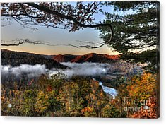 Acrylic Print featuring the photograph Morning Cheat River Valley by Dan Friend