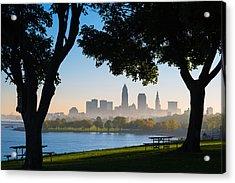 Cleveland Morning Fog Acrylic Print