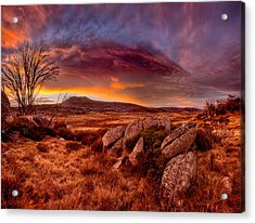Morning Clouds Over Jugungal Acrylic Print by Robert Charity