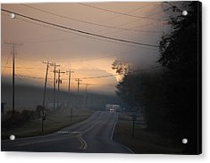 Morning Commute - Foggy Sunrise Acrylic Print