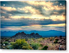 Morning Desert Glow Acrylic Print