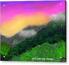 Morning Acrylic Print by Dr Loifer Vladimir