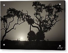 Morning Eclipse In Sepia Acrylic Print by Phill Doherty