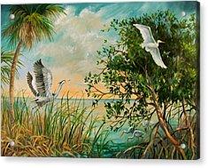 Morning Flight Acrylic Print by Dianna  Willman