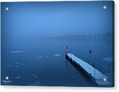 Morning Fog 002 - Skaha Lake 03-06-2014 Acrylic Print by Guy Hoffman