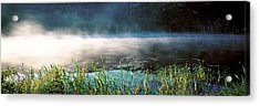 Morning Fog Acadia National Park Me Usa Acrylic Print by Panoramic Images