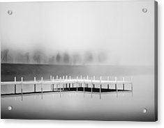 Acrylic Print featuring the photograph Morning Fog Burn-off by Greg Jackson
