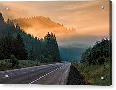 Morning Fog In Oregon Acrylic Print